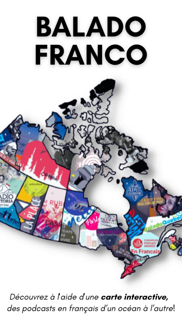 Carte du Canada pour présenter BALADO FRANCO