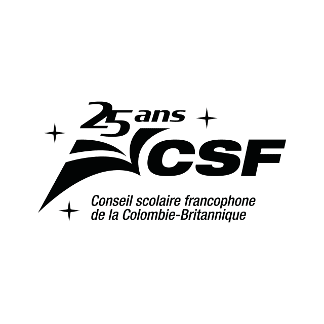 Logo du Conseil scolaire francophone de la Colombie-Britannique 25e anniversaire