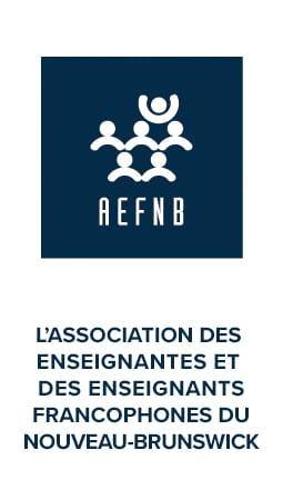 Publicité pour l'Association des enseignantes et des enseignants francophones du Nouveau-Brunswick (AEFNB)