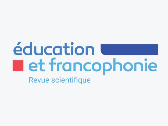 Logo de la revue scientifique Éducation et francophonie