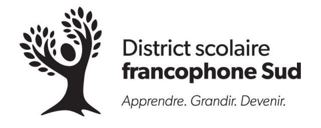 Logo du District scolaire francophone Sud du Nouveau-Brunswick