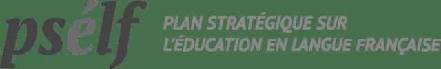 Logo du Plan stratégique sur l'éducation en langue française