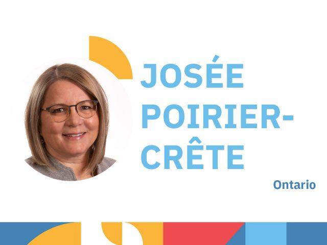 Photo de Josée Poirier-Crête - animatrice au congrès 2021