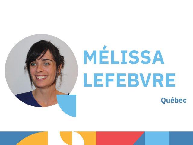 Photo de Mélissa Lefebvre - animatrice au congrès 2021